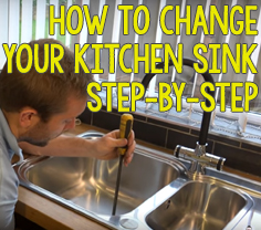 How to change your kitchen sink step by step