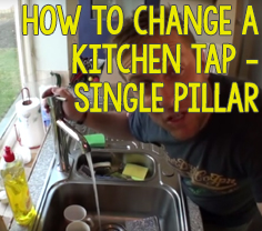 How to Change a Single Pillar Kitchen Tap